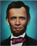 Barack Obama y Abraham Lincoln