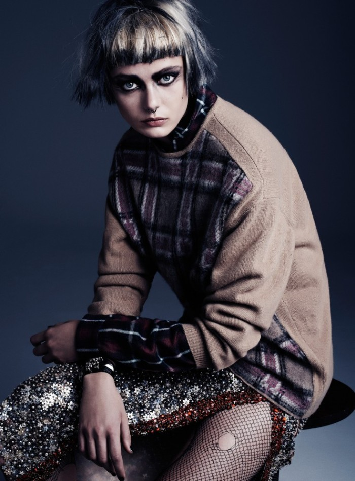 Frida-Gustavsson-by-Steven-Pan-Punk-Attitude-Flair-6-Fall-2013-2-735x997