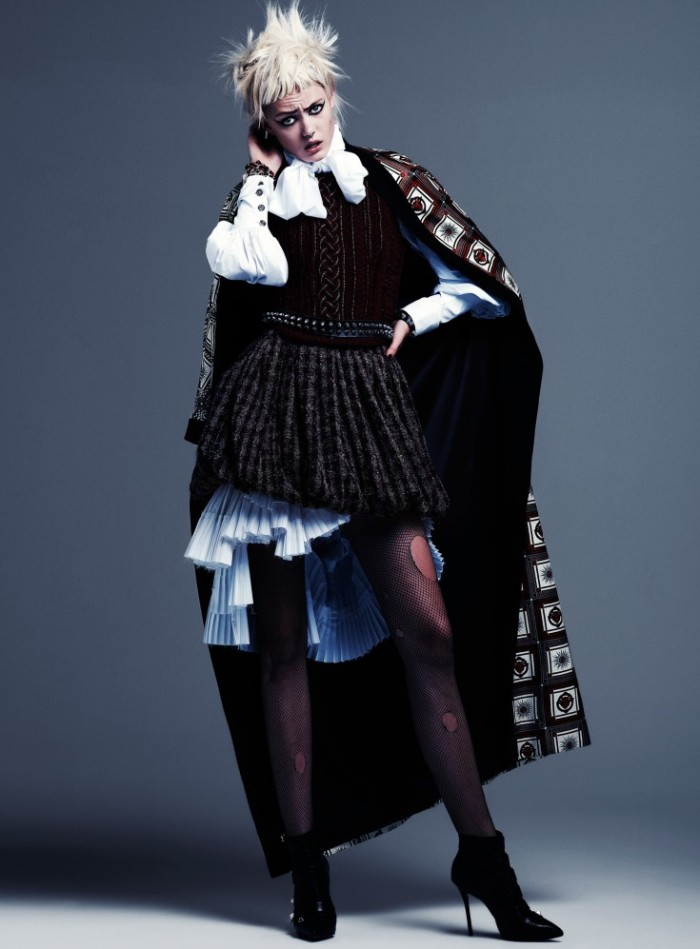Frida-Gustavsson-by-Steven-Pan-Punk-Attitude-Flair-6-Fall-2013-5-735x997